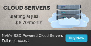 Cloud Servers from $ 8.7/month